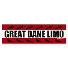 Great Dane Limo Bumper Bumper Sticker