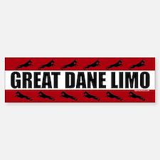 Great Dane Limo Bumper Car Car Sticker