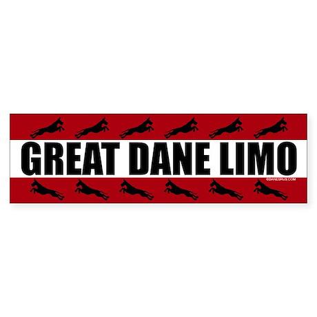 Great Dane Limo Bumper Sticker