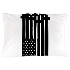 American Flag Crosses Pillow Case