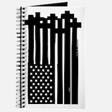 American Flag Crosses Journal