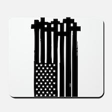 American Flag Crosses Mousepad