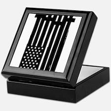 American Flag Crosses Keepsake Box