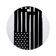 American Flag Crosses Ornament (Round)