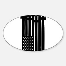 American Flag Crosses Decal