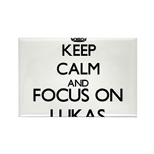 Keep Calm and Focus on Lukas Magnets