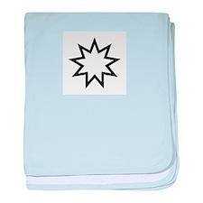 Bahá'í symbol - nine-pointed star baby blanket