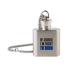 I'm Right YiaYia Drinkware Flask Necklace