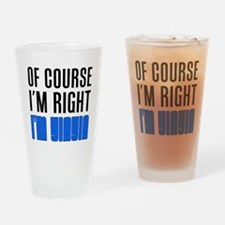 I'm Right YiaYia Drinkware Drinking Glass