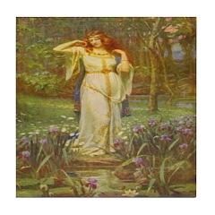 Freyja (Viking) Tile Coaster