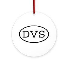 DVS Oval Ornament (Round)