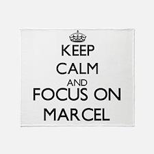 Keep Calm and Focus on Marcel Throw Blanket