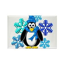 Cute Penguins Rectangle Magnet