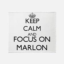 Keep Calm and Focus on Marlon Throw Blanket