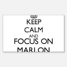Keep Calm and Focus on Marlon Decal