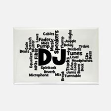 DJ Word Cloud Magnets
