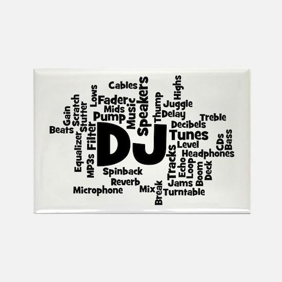 DJ Word Cloud Magnets