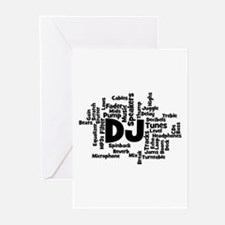DJ Word Cloud Greeting Cards