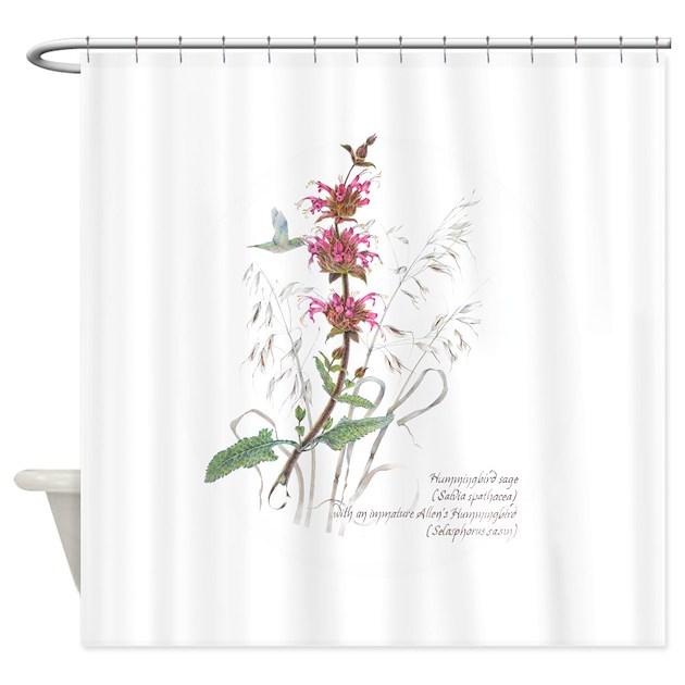 Hummingbird Sage Shower Curtain By EstellesSketchbookStuff
