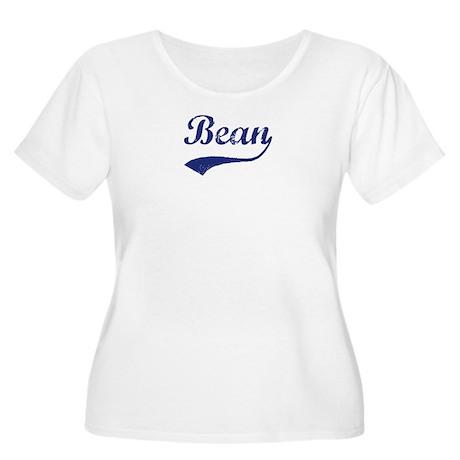 Bean - vintage (blue) Women's Plus Size Scoop Neck