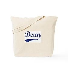 Bean - vintage (blue) Tote Bag