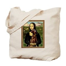 Mona Lisa (new) & Red Doberman Tote Bag