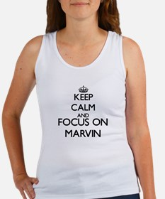 Keep Calm and Focus on Marvin Tank Top