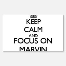 Keep Calm and Focus on Marvin Decal