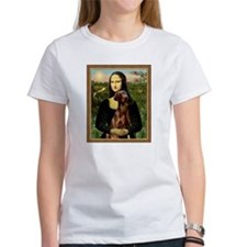 Mona Lisa (new) & Red Doberman Tee