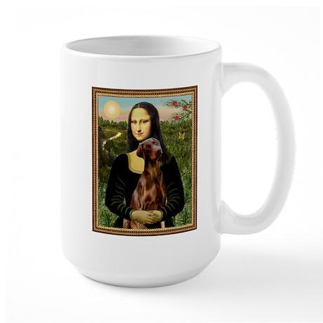 Mona Lisa (new) & Red Doberman Large Mug