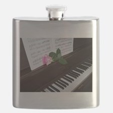 Piano' Music and a Rose Flask