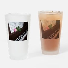 Piano' Music and a Rose Drinking Glass