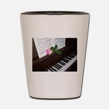 Piano' Music and a Rose Shot Glass