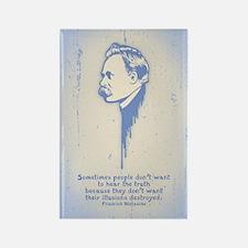 Nietzsche Illusions Rectangle Magnet