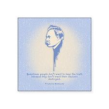 """Nietzsche Illusions Square Sticker 3"""" x 3"""""""