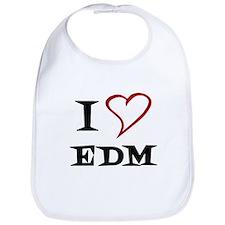 I Love EDM Bib