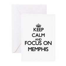 Keep Calm and Focus on Memphis Greeting Cards