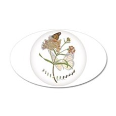 Monarch Butterfly With Wall Decal