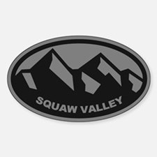 Squaw Valley Mountain Sticker (Oval)