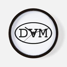 DVM Oval Wall Clock