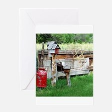 Country bird house & Milk can Greeting Cards