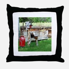 Country bird house & Milk can Throw Pillow