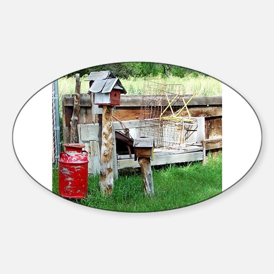Country bird house & Milk can Decal