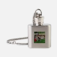 Country bird house & Milk can Flask Necklace
