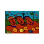 African Folkart Rectangle Magnets (10 pack)
