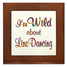 Wild About Line Dancing Framed Tile