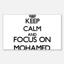 Keep Calm and Focus on Mohamed Decal