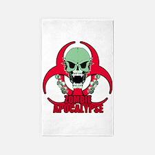 Zombie Apocalypse grn Area Rug