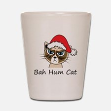 Bah Hum Cat Shot Glass