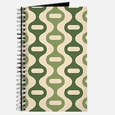 Vintage Olive Green Striped Journal